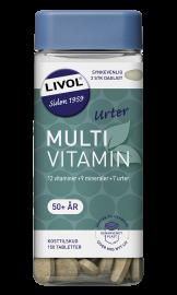 Livol Multivitamin m. urter 50+ 150stk.