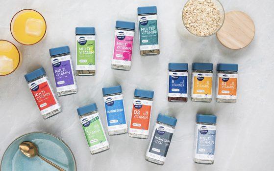 mere miljøvenlig emballage - Livol kosttilskud kommer i bøtter af 100 % genbrugsplast